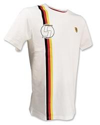 T-shirt à col rond blanc FERRARI F1
