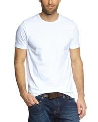 T-shirt à col rond blanc Garage