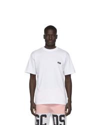 T-shirt à col rond blanc Gcds