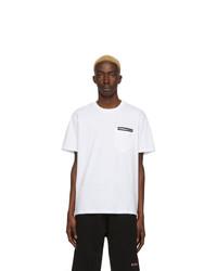 T-shirt à col rond blanc Givenchy