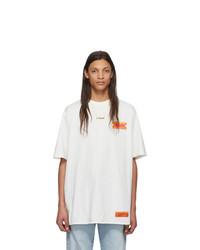 T-shirt à col rond blanc Heron Preston