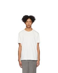 T-shirt à col rond blanc Issey Miyake Men