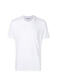 T-shirt à col rond blanc Jil Sander