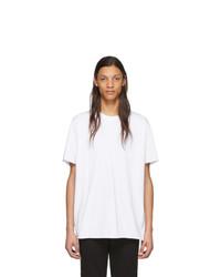 T-shirt à col rond blanc John Elliott