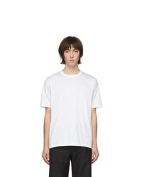 T-shirt à col rond blanc Junya Watanabe
