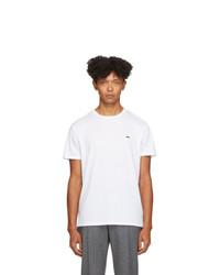T-shirt à col rond blanc Lacoste