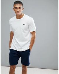 T-shirt à col rond blanc Lacoste Sport