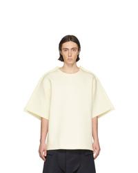 T-shirt à col rond blanc Maison Margiela