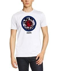 T-shirt à col rond blanc Merc of London