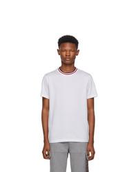 T-shirt à col rond blanc Moncler