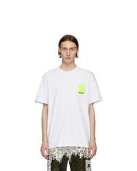 T-shirt à col rond blanc MSGM