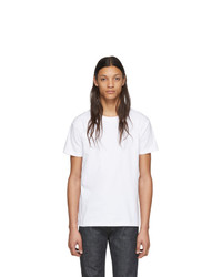 T-shirt à col rond blanc Naked and Famous Denim