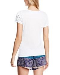 T-shirt à col rond blanc O'Neill