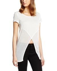 T-shirt à col rond blanc Only