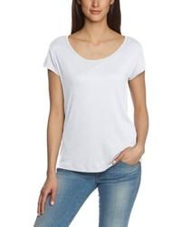 T-shirt à col rond blanc Pieces