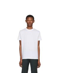 T-shirt à col rond blanc Prada