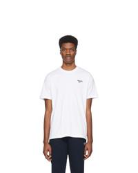 T-shirt à col rond blanc Reebok Classics