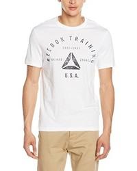 T-shirt à col rond blanc Reebok