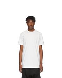 T-shirt à col rond blanc Rick Owens