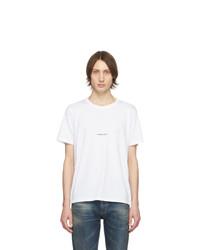 T-shirt à col rond blanc Saint Laurent