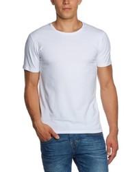 T-shirt à col rond blanc Selected