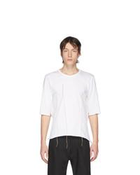 T-shirt à col rond blanc Sulvam