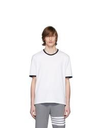 T-shirt à col rond blanc Thom Browne