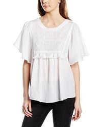 T-shirt à col rond blanc Vero Moda