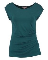 T-shirt à col rond bleu canard Anna Field