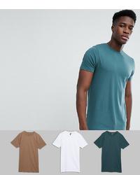 T-shirt à col rond bleu canard ASOS DESIGN