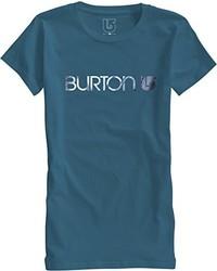 T-shirt à col rond bleu canard Burton