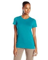 T-shirt à col rond bleu canard Icebreaker