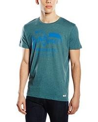 T-shirt à col rond bleu canard Jack & Jones