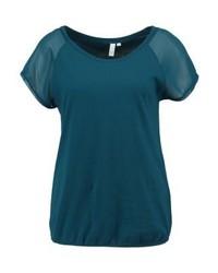 T-shirt à col rond bleu canard s.Oliver