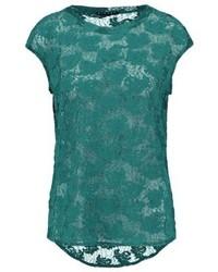 T-shirt à col rond bleu canard Sisley
