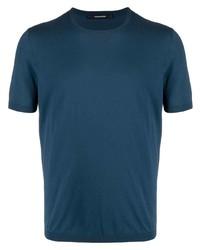 T-shirt à col rond bleu canard Tagliatore