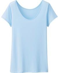 T-shirt à col rond bleu clair