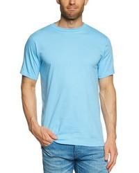 T-shirt à col rond bleu clair Anvil