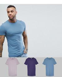 T-shirt à col rond bleu clair ASOS DESIGN