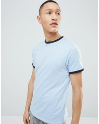 T-shirt à col rond bleu clair Brave Soul