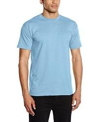 T-shirt à col rond bleu clair Fruit of the Loom