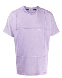 T-shirt à col rond bleu clair Jacquemus