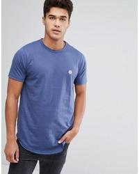 T-shirt à col rond bleu clair Le Breve