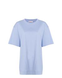 T-shirt à col rond bleu clair Marni
