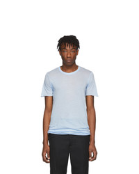 T-shirt à col rond bleu clair Rick Owens