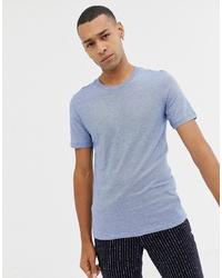 T-shirt à col rond bleu clair Selected Homme
