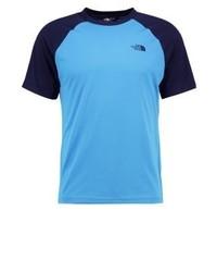T-shirt à col rond bleu clair The North Face
