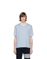 T-shirt à col rond bleu clair Thom Browne