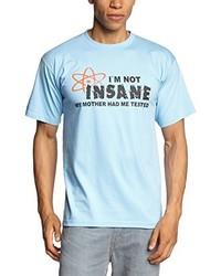 T-shirt à col rond bleu clair Touchlines