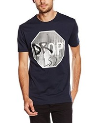 T-shirt à col rond bleu marine Antony Morato